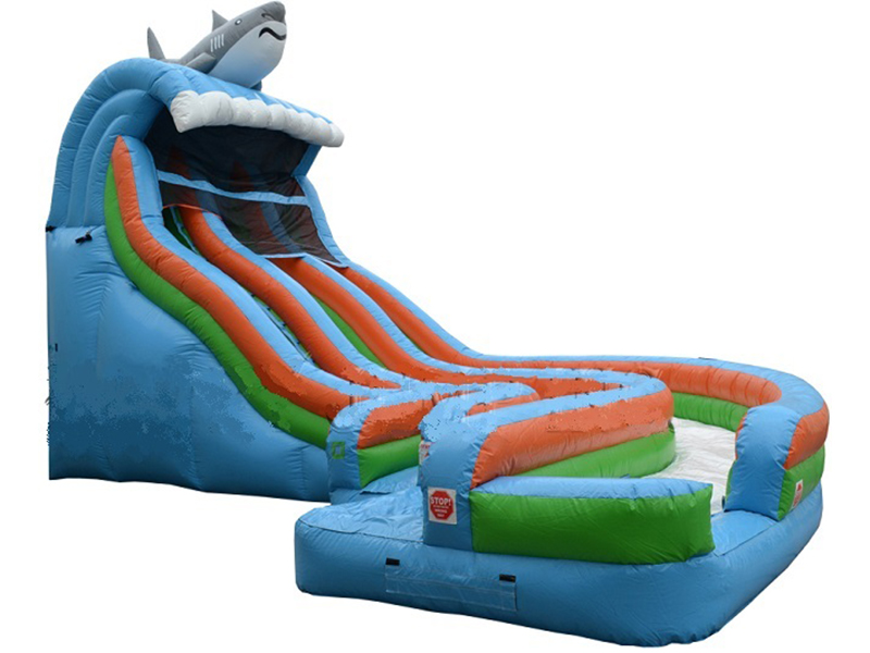 19' Aqualoop Double Lane Water Slide