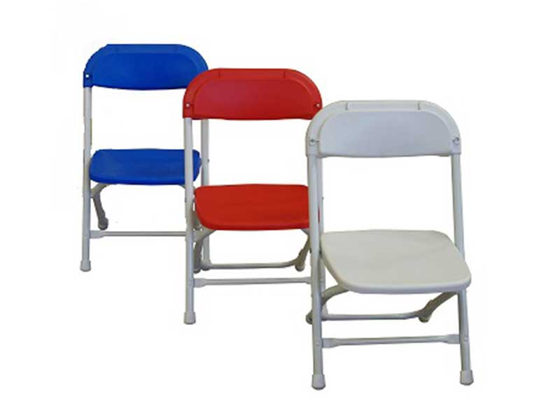 Children's Folding Chairs - White, Red, Blue
